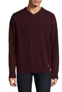 Barbour V-Neck Wool Sweater