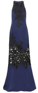 David Koma Lace and crêpe gown