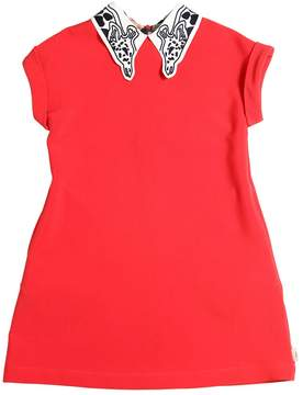 Paul Smith Crepe Dress W/ Giraffe Collar