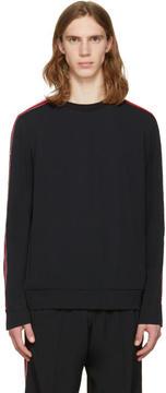 MSGM Black Arm Stripes Sweatshirt