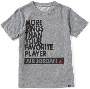 Jordan Big Boys 8-20 More Rings DRI-Fit Short-Sleeve Tee