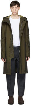 Helmut Lang Khaki Flat Hood Coat