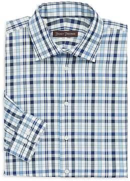 Hickey Freeman Men's Classic Fit Plaid Cotton Dress Shirt