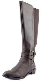 Karen Scott Womens Davina Leather Round Toe Knee High Fashion Boots.