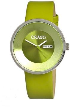 Crayo Button Silver-tone Stainless Steel Case Unisex Watch