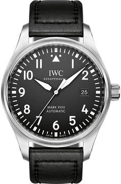 IWC Pilot's Mark XVIII leather and stainless steel watch