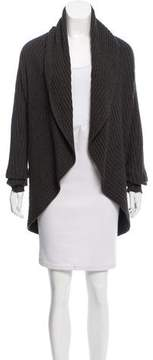 Autumn Cashmere Rib Knit Open Front Cardigan
