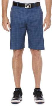 Callaway Big And Tall Opti-Stretch Glen Plaid Active Waistband Golf Short