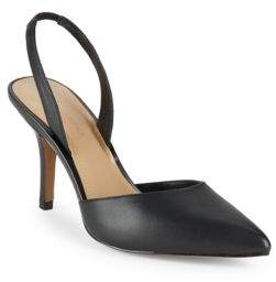 Saks Fifth Avenue Danica Leather Slingback Pumps