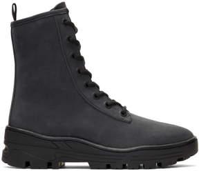 Yeezy Black Nubuck Combat Boots