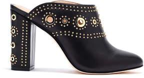 Rachel Zoe Ramona Eyelet-Embellished Leather Block Heel Mules