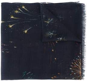 Valentino firework-print scarf