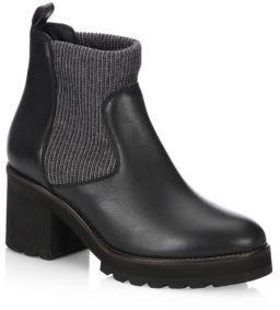 Brunello Cucinelli Monili Leather Slip-On Boots