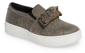 MICHAEL Michael Kors Girl's Maven Poppy Knotted Slip-On Sneaker