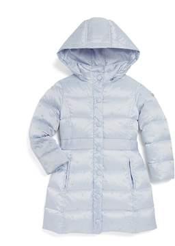 Armani Junior Girls' Embroidered Logo Print Puffer Coat - Little Kid