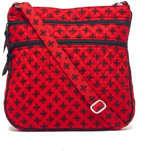 Vera Bradley Red & Black Mini Concerto Triple-Zip Hipster Crossbody Bag - RED - STYLE