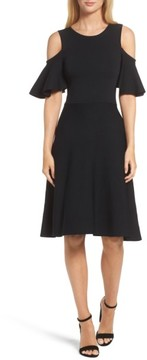 Eliza J Women's Cold Shoulder Fit & Flare Dress
