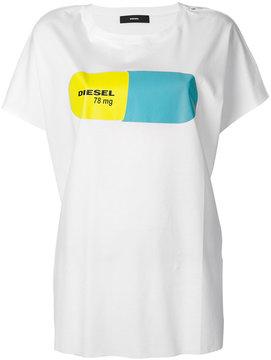Diesel Pill motif T-shirt