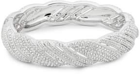 Adriana Orsini Women's Pavé Crystals Scalloped Bangle Bracelet