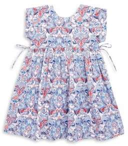 Roberta Roller Rabbit Toddler's, Little Girl's & Girl's Cotton Fleur De Lis Print Dress