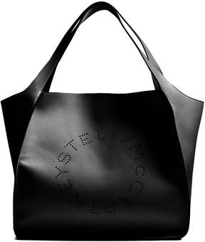 Stella McCartney Perforated-logo faux-leather tote