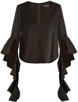 Ellery Reverberation V-neck cady blouse