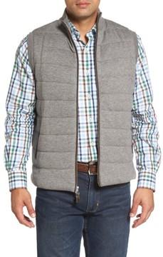 Peter Millar Men's Quilted Wool & Cotton Full Zip Vest