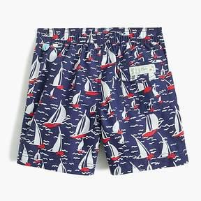 J.Crew Boys' sailboat-print swim trunk