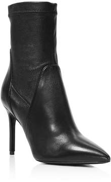 Charles David Linden Stretch Leather Pointed Toe Booties