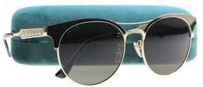 Gucci Women's GG0075S GG/0075/S 003 Gold/Black Fashion Sunglasses 56mm