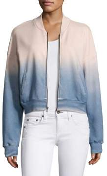 Feel The Piece Leland Dip-Dye Bomber Jacket