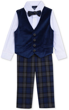 Nautica 4-Pc. Bowtie, Shirt, Velvet Vest & Pants Set, Baby Boys (0-24 months)