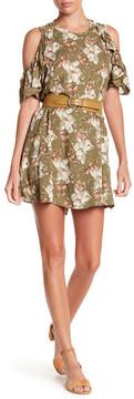 Angie Floral Cold Shoulder Dress