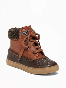 Old Navy Sherpa-Trim Boots for Toddler Boys