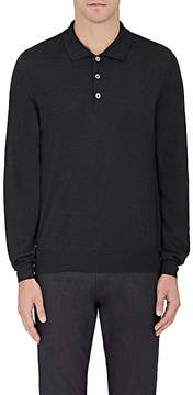 Brioni Men's Wool-Blend Long-Sleeve Polo Shirt