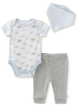 Absorba Baby's Three-Piece Bunny Rabbit, Pants & Bib Set