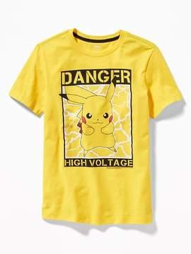 Old Navy Pokémon Pikachu Danger High Voltage Tee for Boys