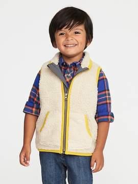 Old Navy Fuzzy Sherpa Zip Vest for Toddler Boys