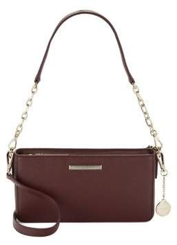 Donna Karan Cordovan Leather Crossbody Bag