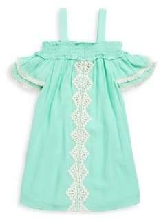 Hannah Banana Little Girl's Off-Shoulder Flutter Dress