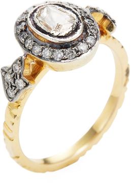 Amrapali Women's 14K Yellow Gold & 0.53 Total Ct. Diamond Ring