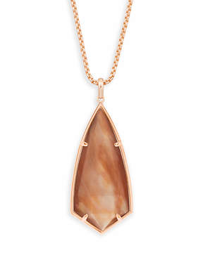Kendra Scott Carole Long Pendant Necklace in Rose Gold