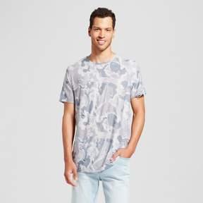 Jackson Men's Distressed Curved Hem T-Shirt Gray Camo