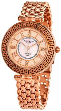 Akribos XXIV Empire Ladies Rose Gold Watch