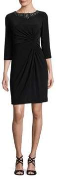 Alex Evenings Petite Knotted Shift Dress