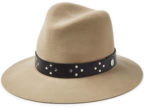 Rag & Bone Floppy Wool Hat with Embellished Leather Trim