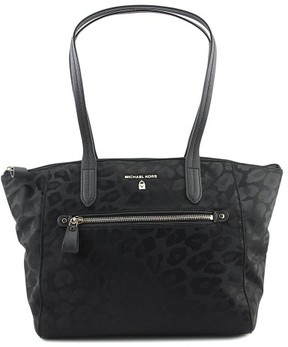 MICHAEL Michael Kors Kelsey Top Zip Medium Tote Women Black Tote - ANIMAL - STYLE