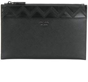 Prada triangle detail pouch
