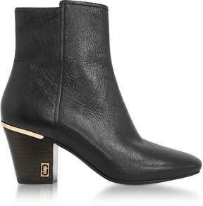 Marc Jacobs Aria Status Black Leather Ankle Boots