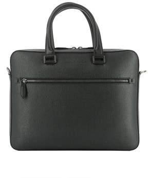Salvatore Ferragamo Grey Leather Handle Bag